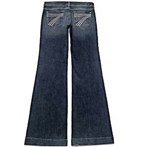 7 For All Mankind Dojo 30X35.5 XL Long Flare Jeans